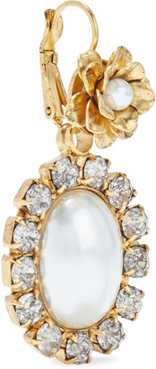 Elizabeth Cole 24-karat Gold-plated Resin And Crystal Earrings