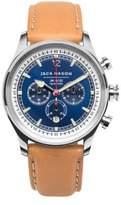 Jack Mason Nautical Stainless Steel & Italian Leather Sunray Dial Chronograph Strap Watch