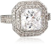 "Kenneth Jay Lane CZ by Classic"" Emerald Cubic Zirconia Double Tiered Ring, Size 7, 6 CTTW"