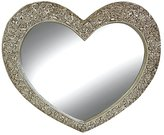 George French Style Ornate Heart Rose Mirror - Champagne