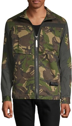 G Star Camouflage Zip-Front Jacket
