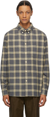 Nanushka Grey Flannel Dome Shirt