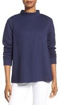 Petite Women's Halogen Tie Wrap Back Sweatshirt