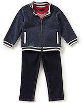 Nautica Baby Boys 12-24 Months Fleece Baseball Jacket, Jersey Tee & Denim Jeans Set