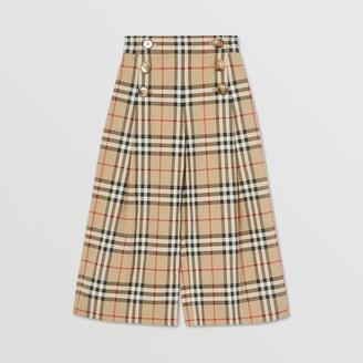 Burberry Childrens Vintage Check Cotton Sailor Trousers