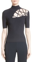 Cushnie et Ochs Women's Strappy Cutout Mock Neck Top