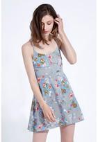 Select Fashion Fashion Stripe Strappy Printed Skater Dress Dresses - size 6