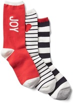 Gap Cozy multi-print crew socks