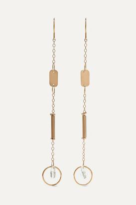 Melissa Joy Manning 14-karat Gold Topaz Earrings - one size