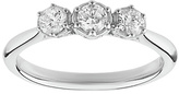Enchanted 9ct White Gold 0.50ct tw Diamond Trilogy Ring