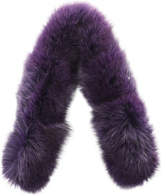 Saga Furs Purple Fox Scarves