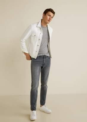 MANGO MAN - Slim fit grey Jan jeans denim grey - 28 - Men