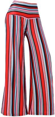 Arolina Women's Stretchy Wide Leg Palazzo Lounge Pants - Multi - XXXL