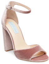 Betsey Johnson Carly Velvet Sandals