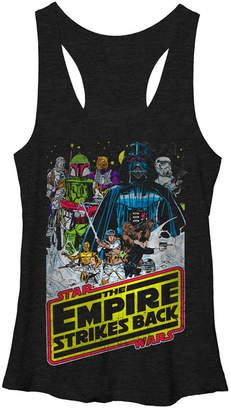 Fifth Sun Star Wars Empire Strikes Back Logo Tri-Blend Racer Back Tank