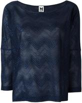 M Missoni boat neck top - women - Cotton/Polyamide/Polyester/Viscose - M