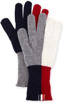 Thom Browne Wool Funmix Intarsia Knit Gloves