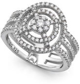 Crislu Platinum & Cubic Zirconia Breeze Ring