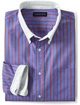 Classic Men's Tailored Fit Sail Rigger Pattern Contrast Collar Oxford Shirt-Light Indigo