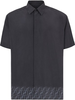 Fendi FF motif print hem shirt
