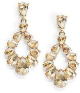 Cara Goldtone Pear Drop Earrings