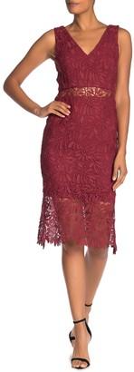 NSR Primm V-Neck Lace Dress