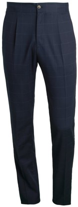 Saks Fifth Avenue COLLECTION Windowpane Travel Suit Pants