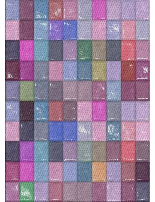 East Urban Home Patterned Pink/Green Area Rug Rug Size: Rectangle 3' x 5'