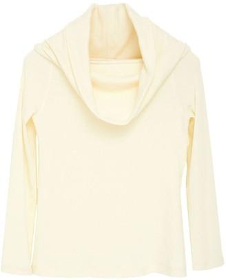 Cowl Off Shoulder Knit Top Cream