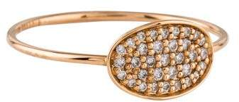 ginette_ny 18K Diamond Mini Sequin Ring