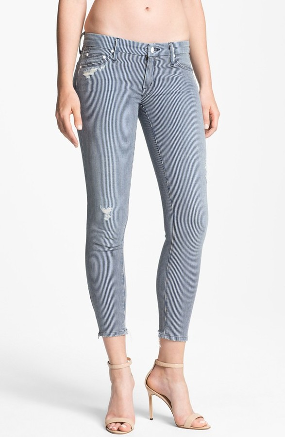 Mother 'The Looker' Skinny Stretch Jeans (On The Road Destroyed)