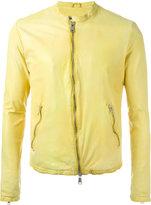 Giorgio Brato zipped jacket - men - Leather/Cotton - 48
