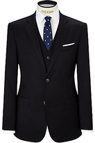 Hackett London Super 110s Wool Twill Single Breasted Suit Jacket, Navy