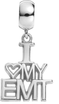 """Insignia Collection Sterling Silver """"I Love My EMT"""" Charm"""