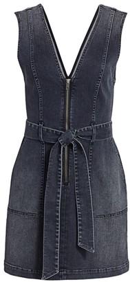 Alice + Olivia Jeans Denim V-Neck Mini Dress
