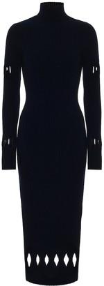 Victoria Beckham Cutout wool-blend midi dress