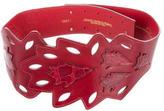 Oscar de la Renta Alligator Embellished Waist Belt