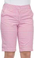 Izod Women's Plaid Bermuda Shorts