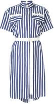 Sacai Striped Shirting Dress
