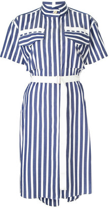 Sacai Striped Shirting Dress