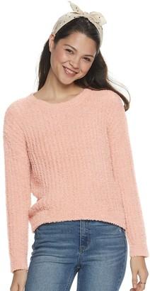 Almost Famous Juniors' Crewneck Drop Shoulder Pullover Sweater