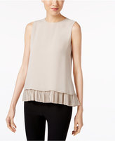 Calvin Klein Pleated Layered Shell