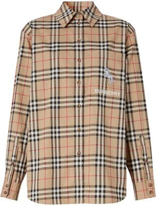 Burberry Vintage Check Zebra Patch Shirt