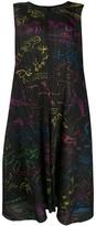 Pleats Please Issey Miyake illustration print pleated midi dress