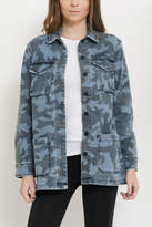 Sneak Peak Camouflage Print Jacket