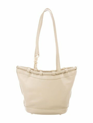 Kieselstein-Cord Leather Shoulder Bag Beige