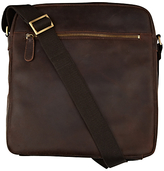 John Lewis Rio Oiled Leather Reporter Bag, Brown