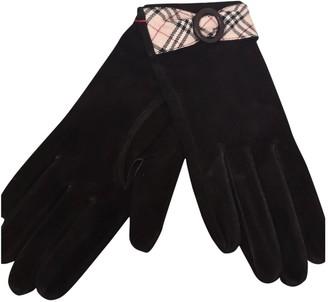 Burberry Black Suede Gloves