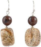 Barse Sterling Silver & Jasper Drop Earrings