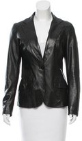 CNC Costume National Leather Notch-Lapel Blazer